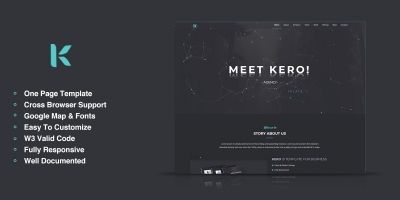 Kero - Onepage HTML5 Portfolio Template