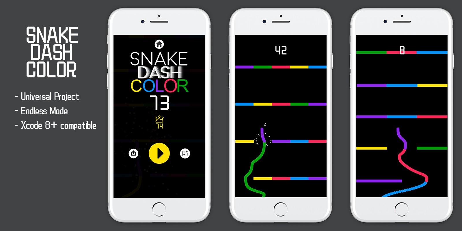 Snake Dash Colors - Buildbox Template