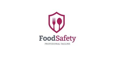 Food Safety Logo Concept In Vector Format