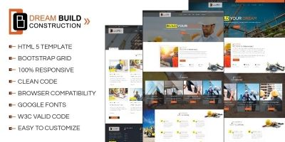 Dream Build - Construction HTML5 Template