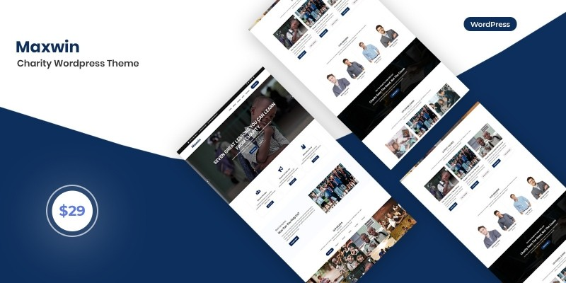 Maxwin - Charity WordPress Theme