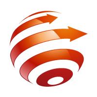 Dynamic Globe With Arrow Logo