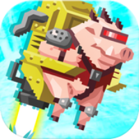 Jetpack Piggy Buildbox Template