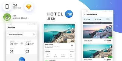 Hotel-Inn Android Studio UI KIT