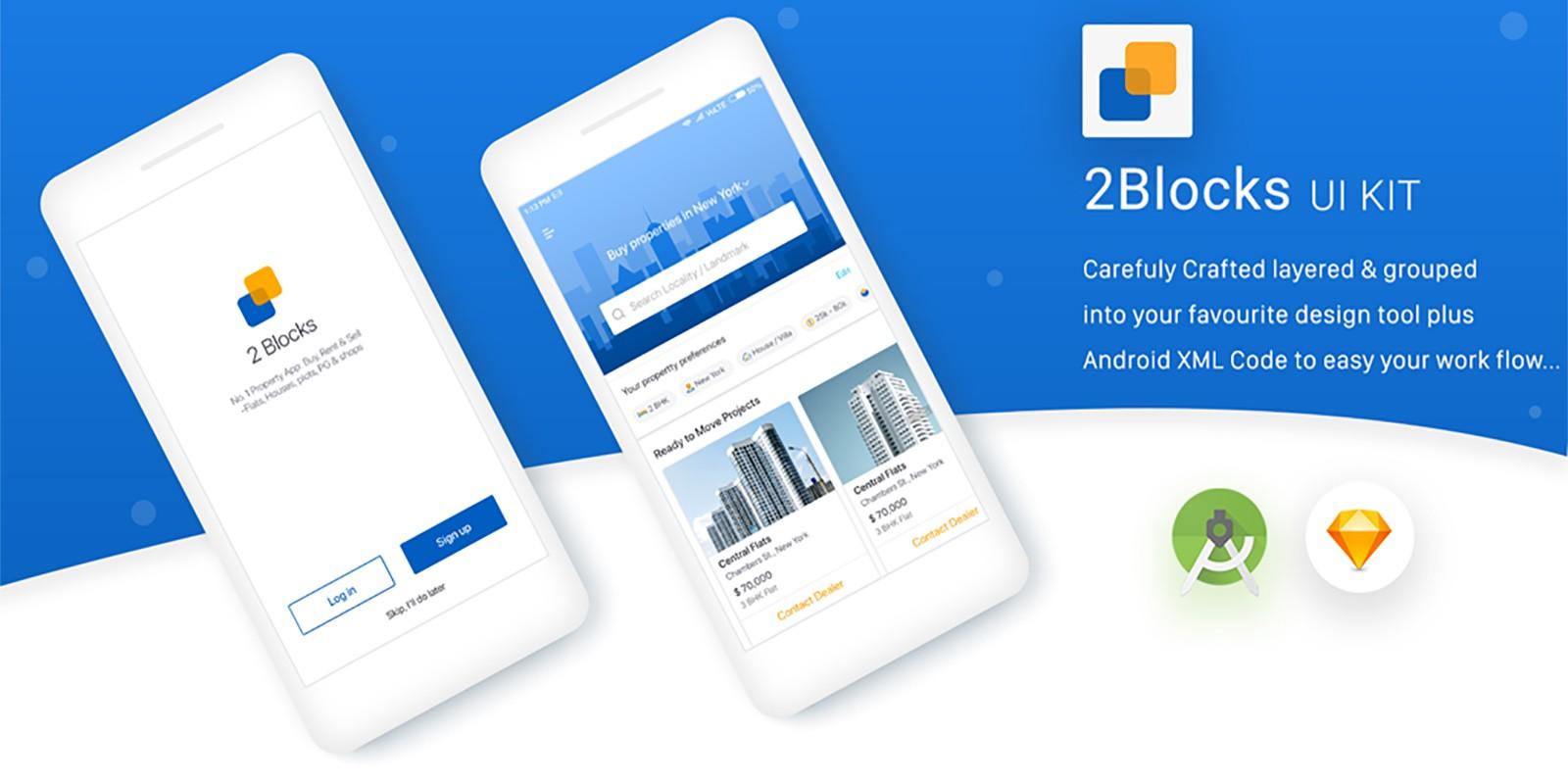 2Blocks - Android Studio UI Kit