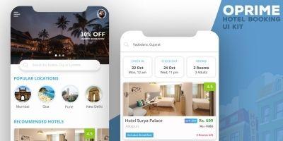 Oprime - Android Studio Hotel UI Kit