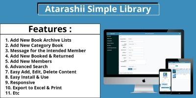 Atarashii Simple Library PHP
