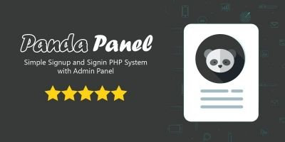 PandaPanel - Signup and Signin System PHP