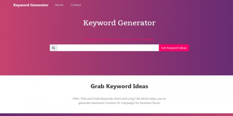 Keyword Generator With Admin PHP Script