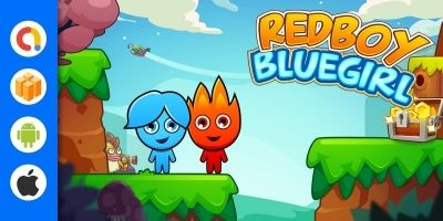 Red Boy And Blue Girl Buildbox Template
