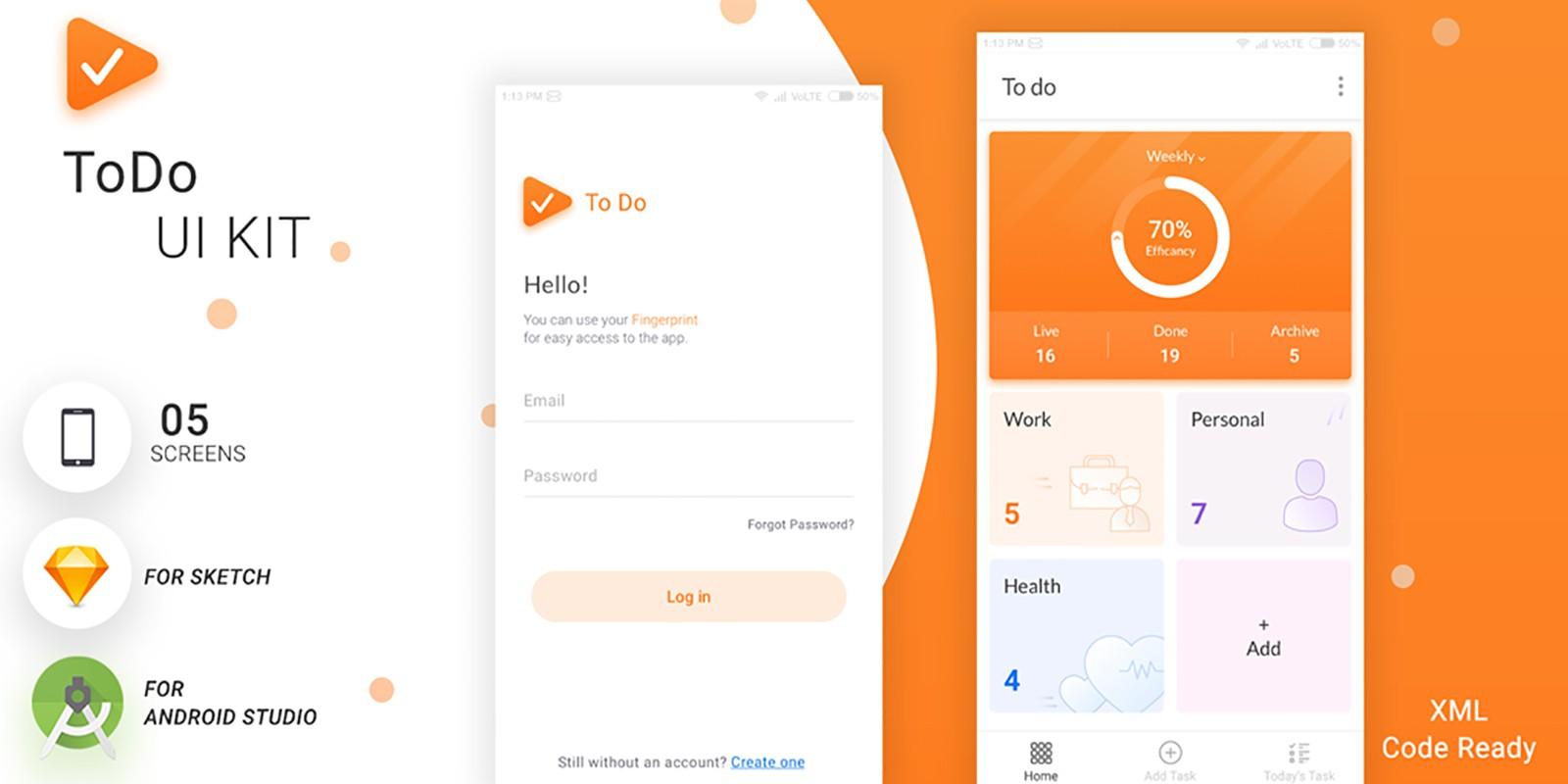 Todo - Android Studio UI Kit