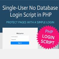 PHP Single-User No Database Login Script