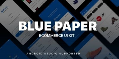 Blue Paper - Android Studio UI Kit