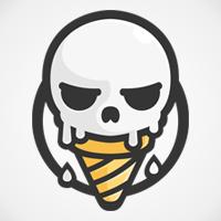 Skull Ice Cream Logo