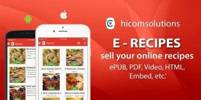 E-Recipes - Sell Your Online Recipes iOS App