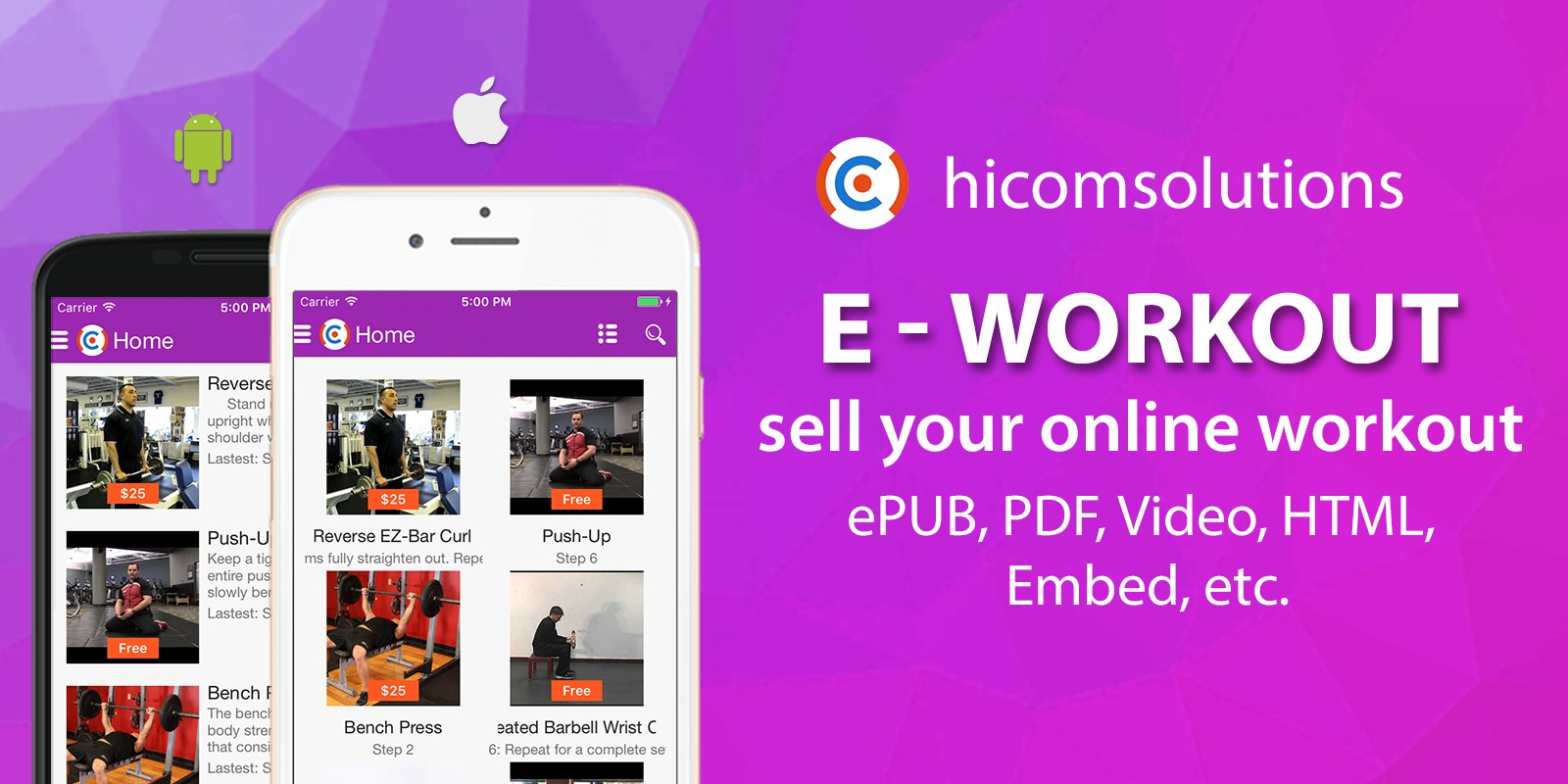 E-Workout - Sell Your Online Workout iOS App