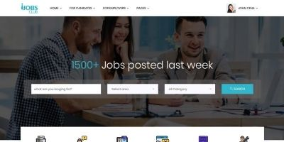 JobsClub - Ultimae Multipurpose HTML5 Job Portal