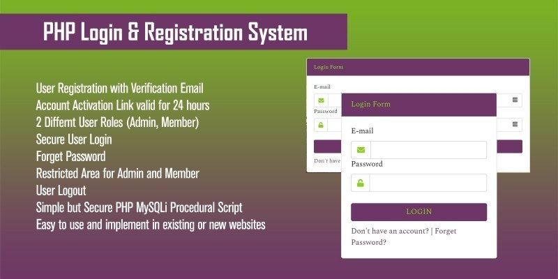 Advance PHP Login And Registration System