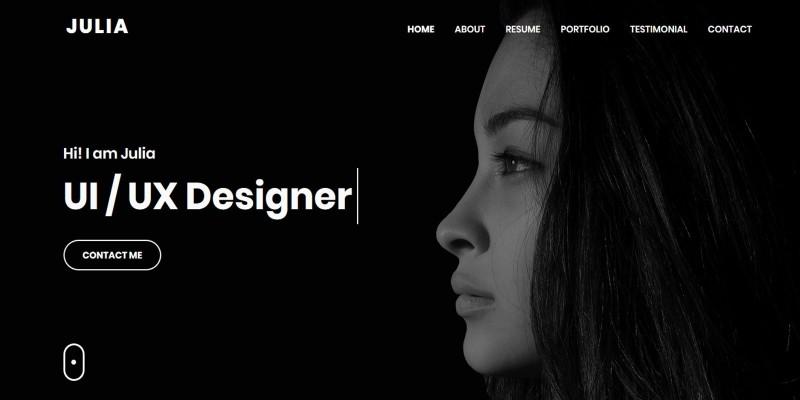 Julia - Personal Portfolio HTML Template