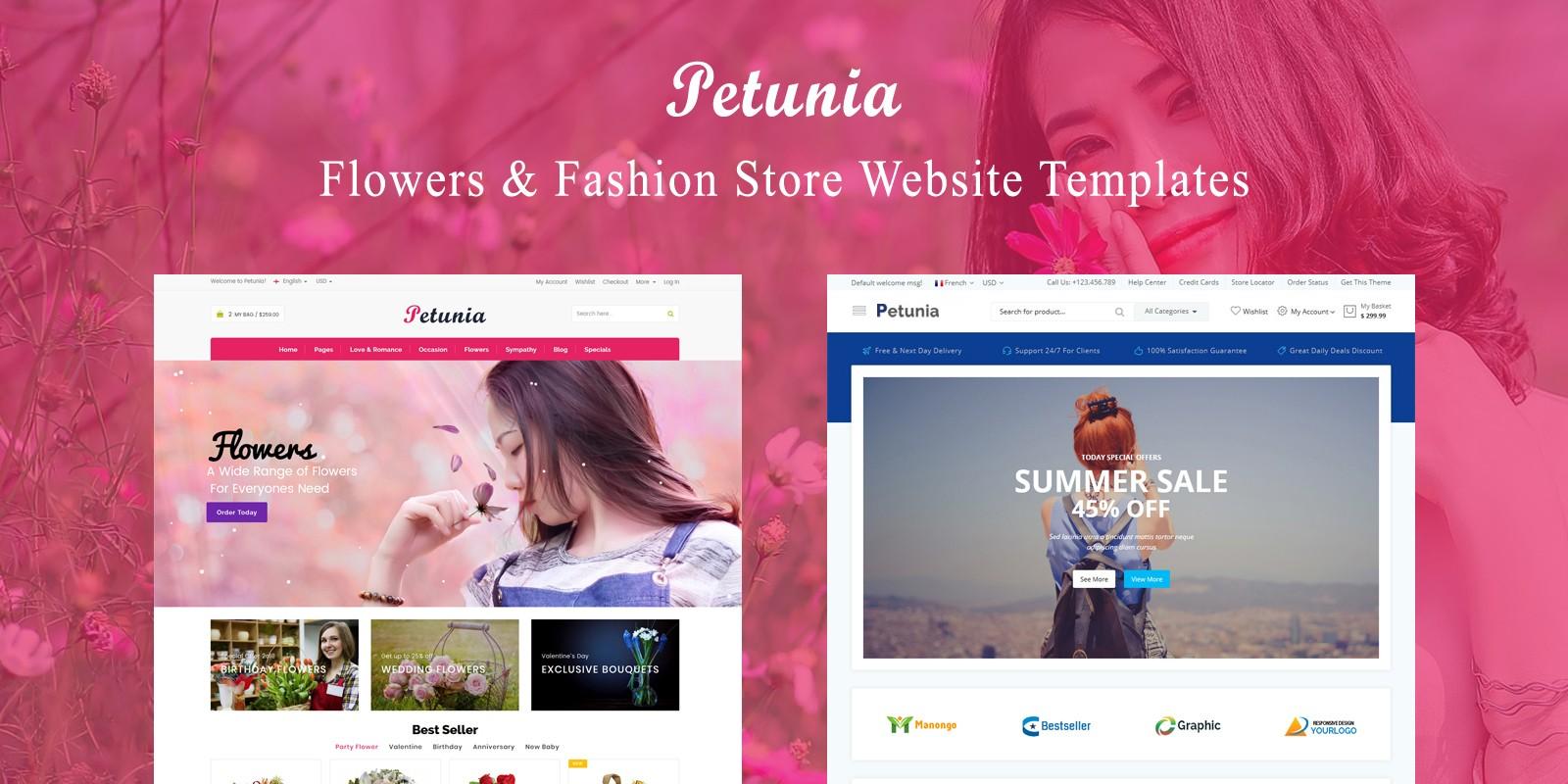Petunia -Fashion Store Website Template