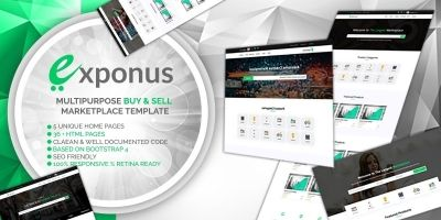 Exponus - Digital Marketplace Template