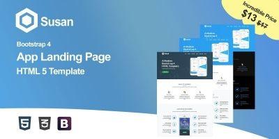 Susan - App HTML5 Landing Page Template
