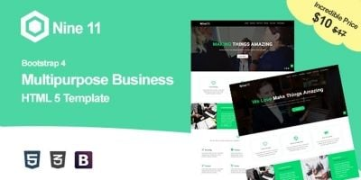 Nine11 - Digital Agency HTML5 Template