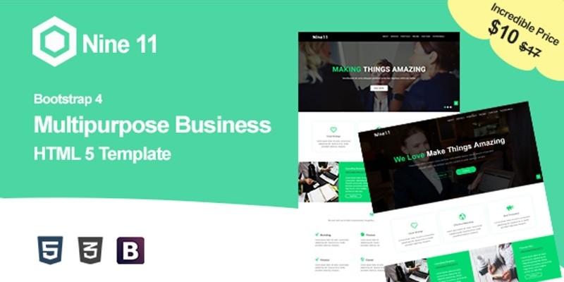 Nine11 - Digital Agency HTML5 Template