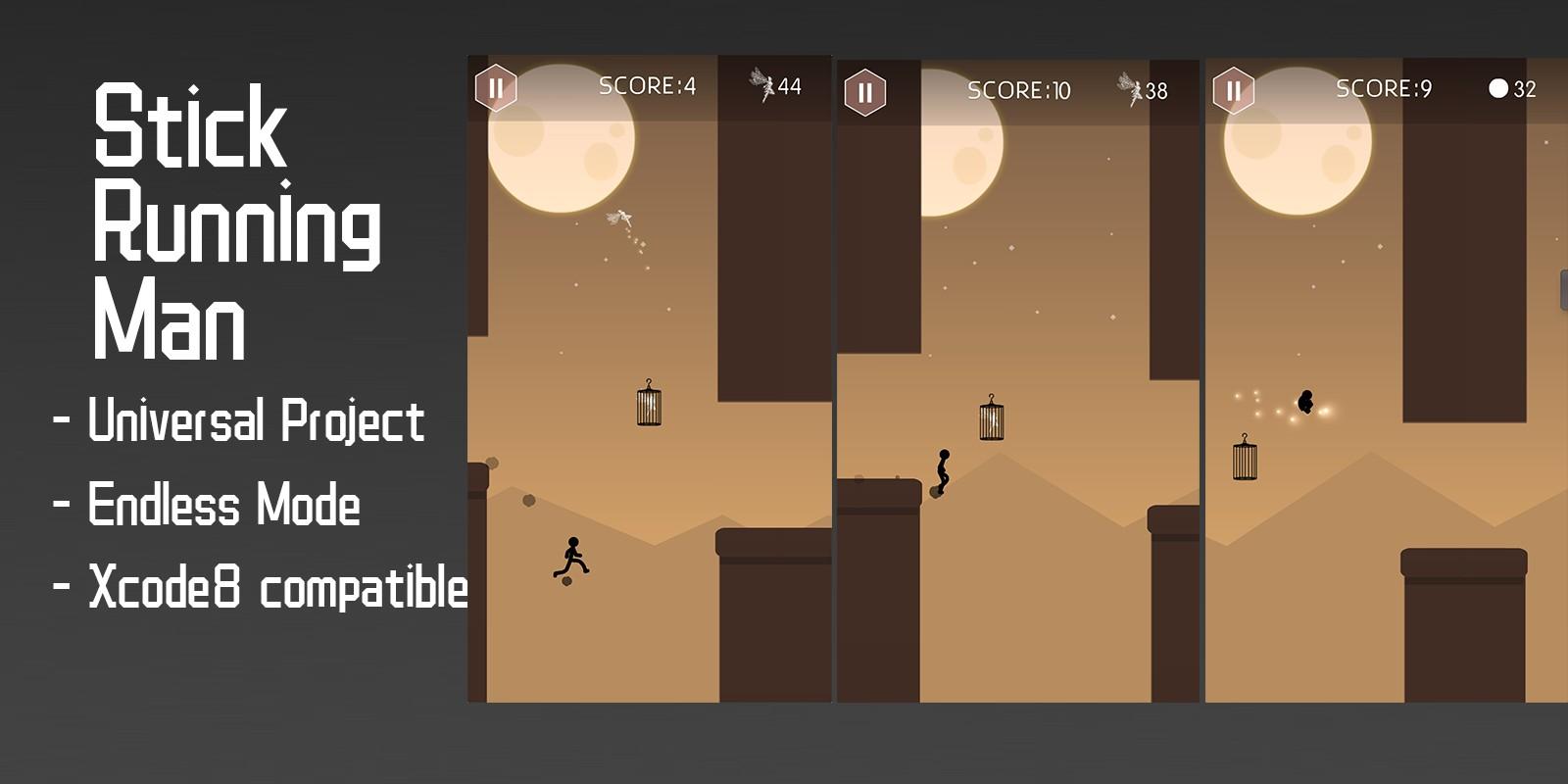 Stick Running Man - Buildbox Template
