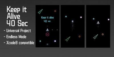 Keep it Alive 40 sec - Buildbox Template