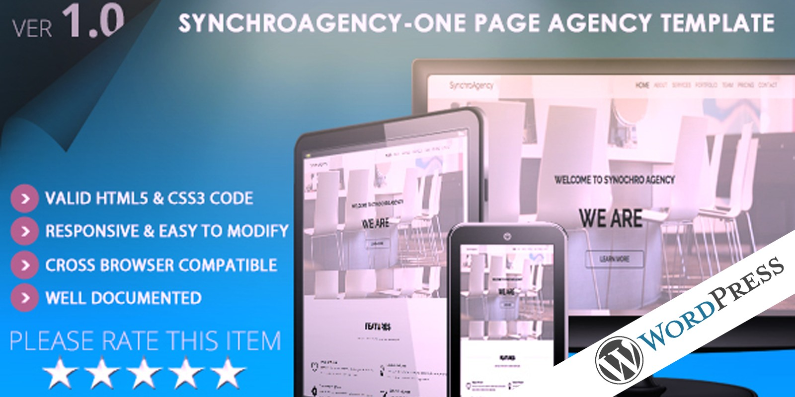 SynchroAgency WordPress Theme