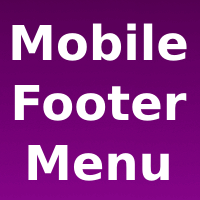 Mobile Footer Menu Wordpress Plugin