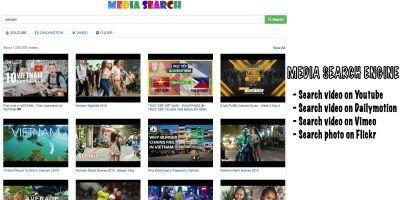 Media Search Engine PHP Script