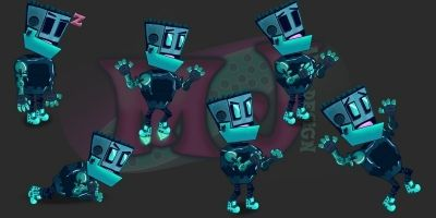 2D Game Robot Character
