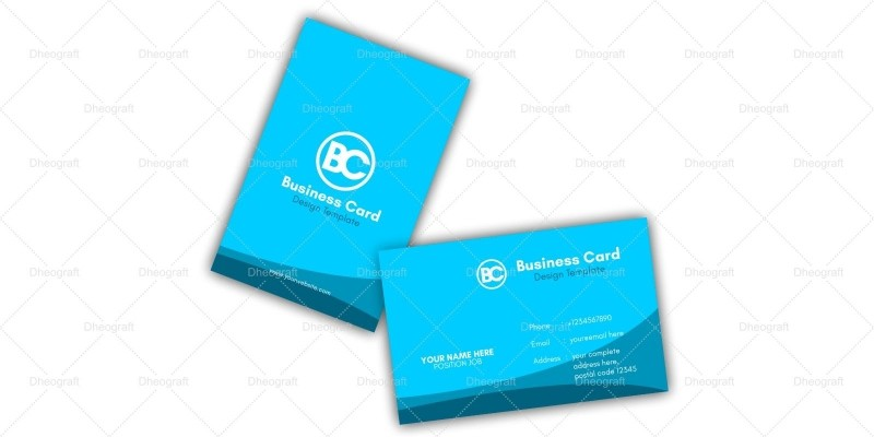 Blue Ocean Business Card Template