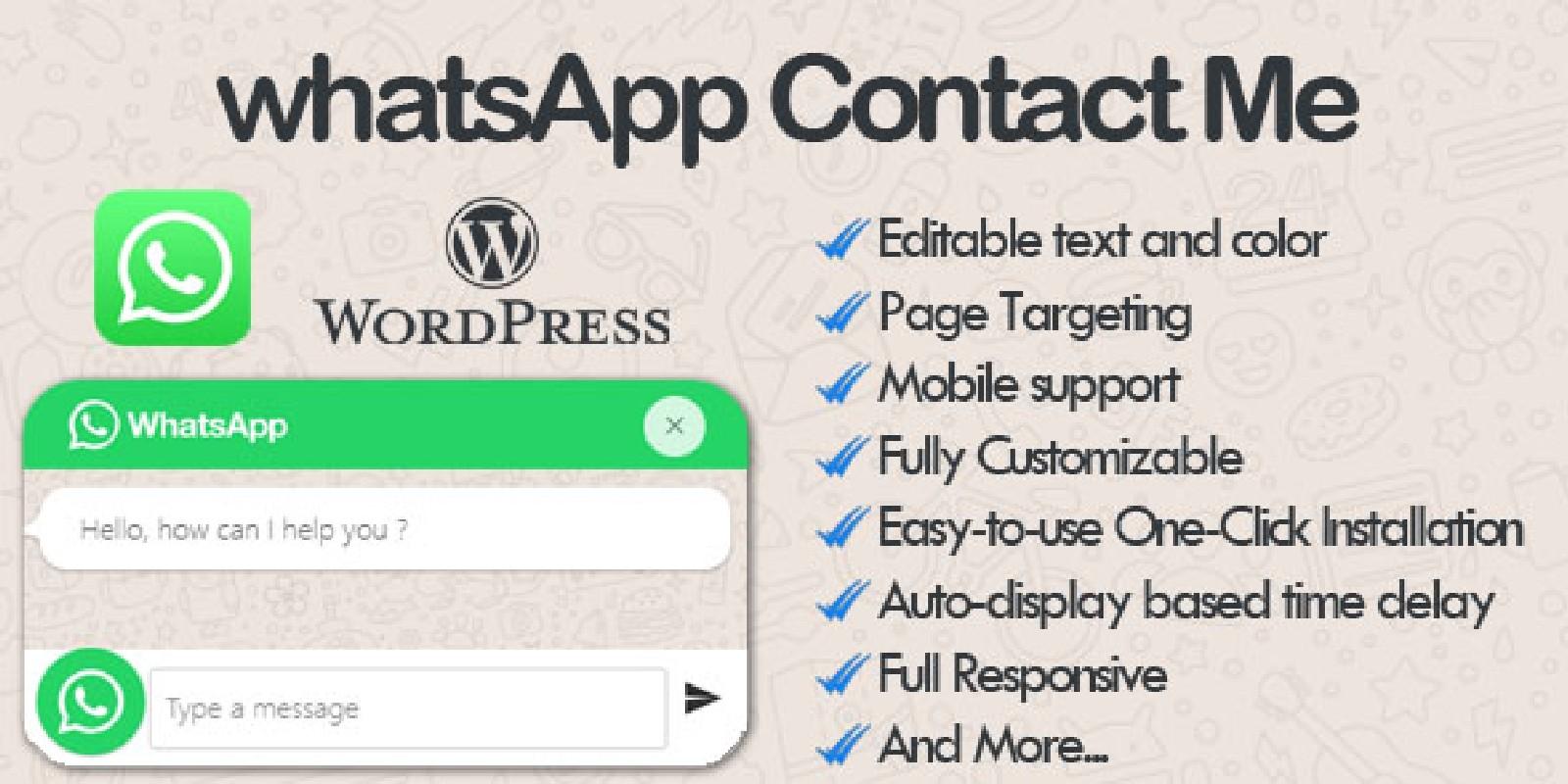 WhatsApp Contact Me - WhatsApp Chat WordPress
