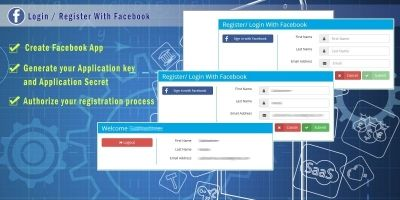 PHP Login Register With Facebook