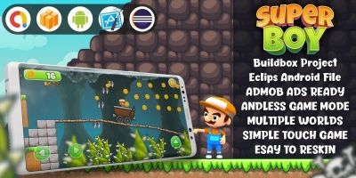 Super Boy Adventure - Buildbox Template