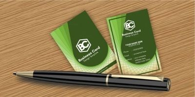 Geometric Spiral Business Card Template