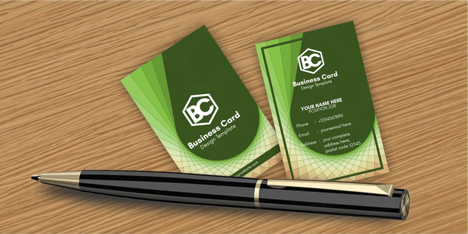 Geometric Spiral Business Card Template