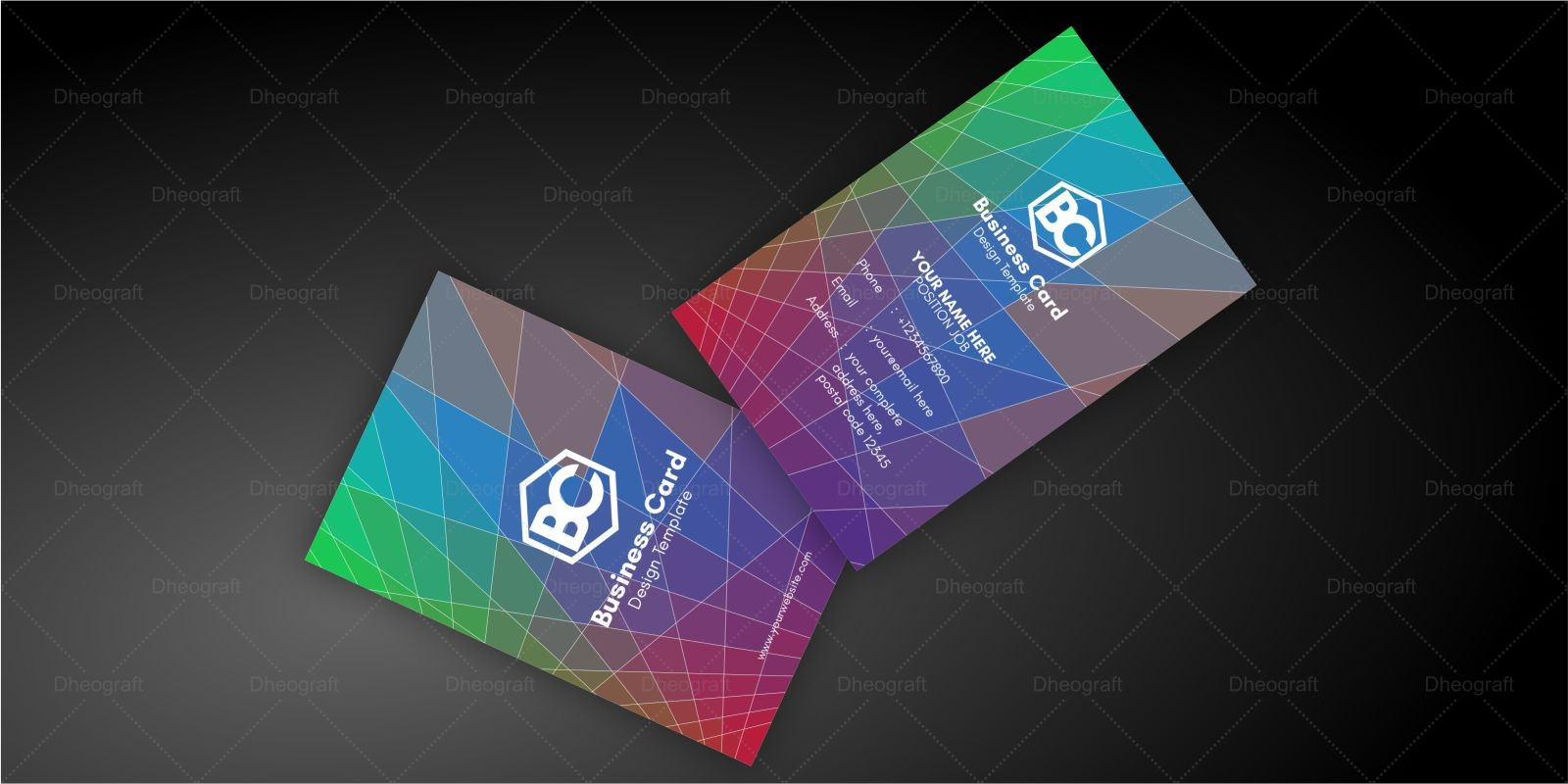Rectangle  Brick Business Card Template