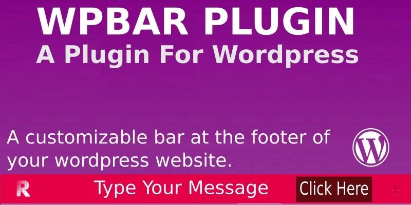 WP BAR Plugin For Wordpress