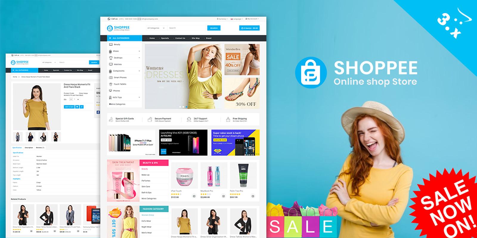Shoppee Opencart 3 Responsive Theme