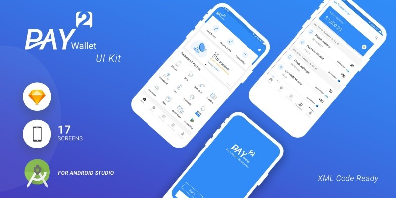 Pay2Wallet - Android Studio UI Kit