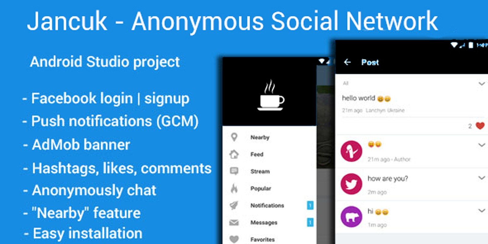 Jancuk - Anonymous Social Network Android