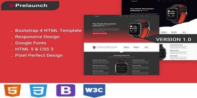 Prelaunch - App Landing Page HTML5 Template