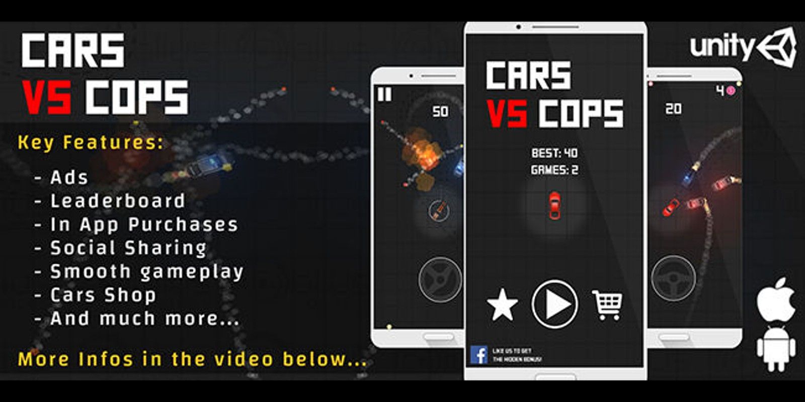 Car Vs Cops - Complete Unity Project