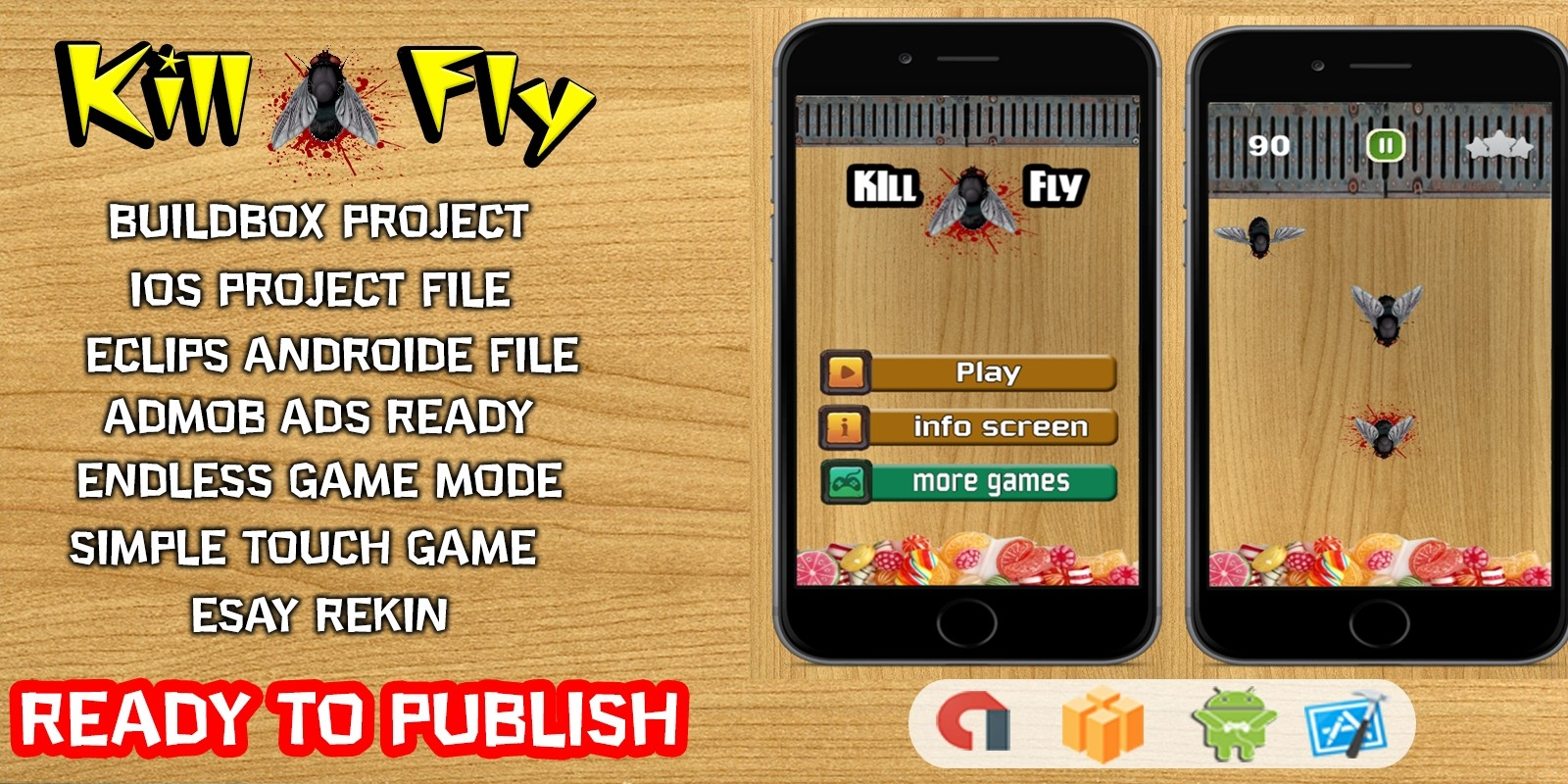 Kill Fly - Buildbox Template