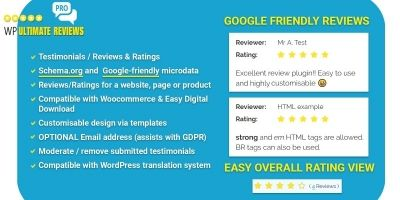 WP Ultimate Reviews Pro - WordPress Plugin