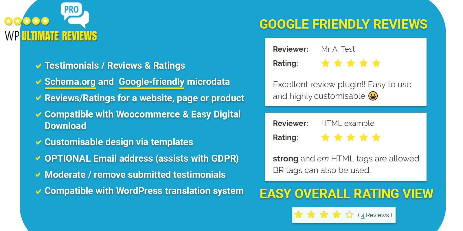WP Ultimate Reviews Pro - WordPress Plugin